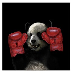 Boxing Panda  Large Satin Scarf (square) by Valentinaart