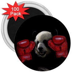 Boxing Panda  3  Magnets (100 Pack) by Valentinaart