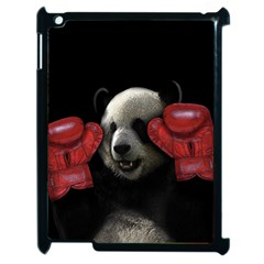 Boxing Panda  Apple Ipad 2 Case (black) by Valentinaart