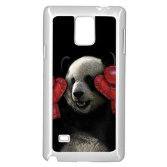 Boxing Panda  Samsung Galaxy Note 4 Case (white) by Valentinaart