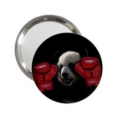 Boxing Panda  2 25  Handbag Mirrors by Valentinaart