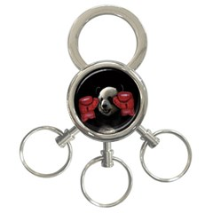 Boxing Panda  3 Ring Key Chains by Valentinaart