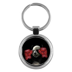 Boxing Panda  Key Chains (round)  by Valentinaart