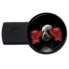 Boxing Panda  Usb Flash Drive Round (2 Gb) by Valentinaart