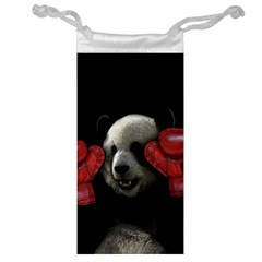 Boxing Panda  Jewelry Bag by Valentinaart