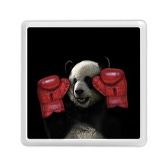 Boxing Panda  Memory Card Reader (square)  by Valentinaart