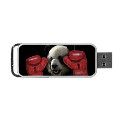 Boxing Panda  Portable Usb Flash (two Sides) by Valentinaart
