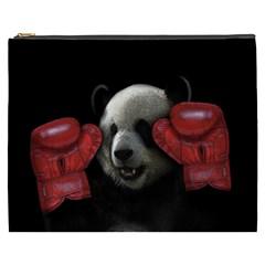 Boxing Panda  Cosmetic Bag (xxxl)  by Valentinaart