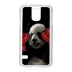 Boxing Panda  Samsung Galaxy S5 Case (white) by Valentinaart