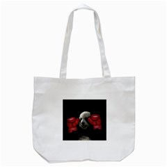 Boxing Panda  Tote Bag (white) by Valentinaart