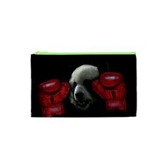 Boxing Panda  Cosmetic Bag (xs) by Valentinaart