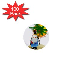 Tropical Penguin 1  Mini Buttons (100 Pack)  by Valentinaart