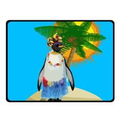 Tropical Penguin Fleece Blanket (small) by Valentinaart