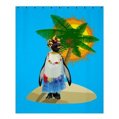 Tropical Penguin Shower Curtain 60  X 72  (medium)  by Valentinaart