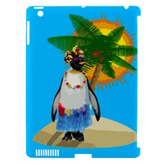 Tropical Penguin Apple Ipad 3/4 Hardshell Case (compatible With Smart Cover) by Valentinaart