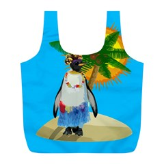 Tropical Penguin Full Print Recycle Bags (l)  by Valentinaart