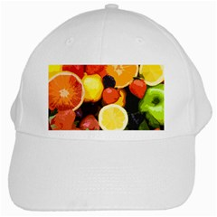 Fruits Pattern White Cap by Valentinaart