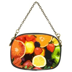 Fruits Pattern Chain Purses (two Sides)  by Valentinaart