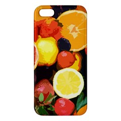 Fruits Pattern Apple Iphone 5 Premium Hardshell Case by Valentinaart