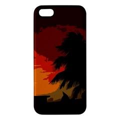 Landscape Apple Iphone 5 Premium Hardshell Case by Valentinaart