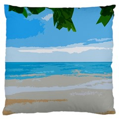 Landscape Large Flano Cushion Case (one Side) by Valentinaart