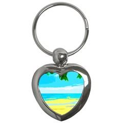 Landscape Key Chains (heart)  by Valentinaart