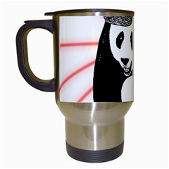 Deejay Panda Travel Mugs (white) by Valentinaart