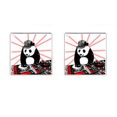 Deejay Panda Cufflinks (square) by Valentinaart