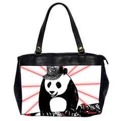Deejay Panda Office Handbags (2 Sides)  by Valentinaart