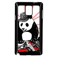 Deejay Panda Samsung Galaxy Note 4 Case (black) by Valentinaart