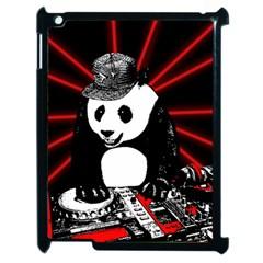 Deejay Panda Apple Ipad 2 Case (black) by Valentinaart