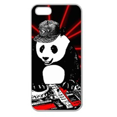 Deejay Panda Apple Seamless Iphone 5 Case (clear) by Valentinaart