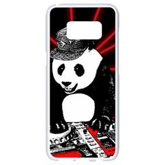 Deejay Panda Samsung Galaxy S8 White Seamless Case by Valentinaart