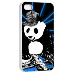 Deejay Panda Apple Iphone 4/4s Seamless Case (white) by Valentinaart