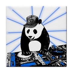 Deejay Panda Tile Coasters by Valentinaart