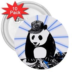 Deejay Panda 3  Buttons (10 Pack)  by Valentinaart
