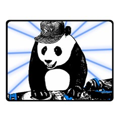 Deejay Panda Fleece Blanket (small) by Valentinaart