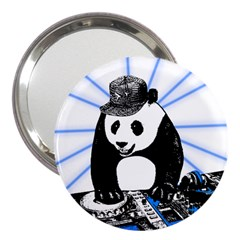 Deejay Panda 3  Handbag Mirrors by Valentinaart