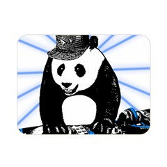 Deejay Panda Double Sided Flano Blanket (mini)  by Valentinaart