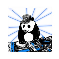 Deejay Panda Small Satin Scarf (square) by Valentinaart