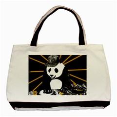 Deejay Panda Basic Tote Bag by Valentinaart