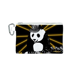 Deejay Panda Canvas Cosmetic Bag (s) by Valentinaart