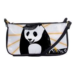 Deejay Panda Shoulder Clutch Bags by Valentinaart