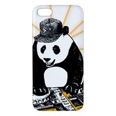 Deejay Panda Apple Iphone 5 Premium Hardshell Case by Valentinaart