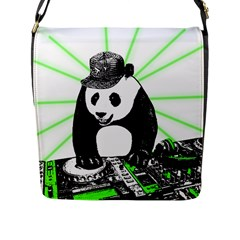 Deejay Panda Flap Messenger Bag (l)  by Valentinaart