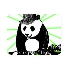 Deejay Panda Double Sided Flano Blanket (mini)  by Valentinaart