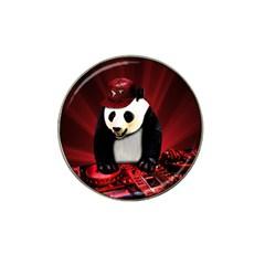 Deejay Panda Hat Clip Ball Marker by Valentinaart