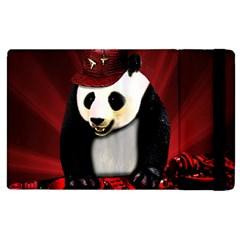 Deejay Panda Apple Ipad 2 Flip Case by Valentinaart