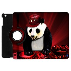 Deejay Panda Apple Ipad Mini Flip 360 Case by Valentinaart