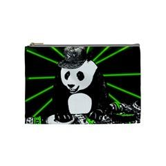 Deejay Panda Cosmetic Bag (medium)  by Valentinaart